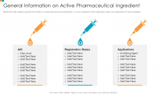 Pharmaceutical Transformation For Inclusive Goods General Information On Active Pharmaceutical Ingredient Template PDF