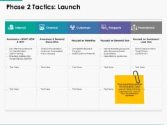 Phase 2 Tactics Launch Ppt Powerpoint Presentation Model Background
