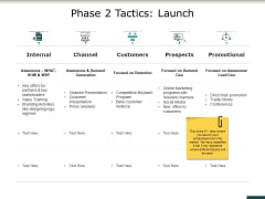 Phase 2 Tactics Launch Ppt PowerPoint Presentation Outline Inspiration