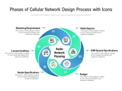 Phases Of Cellular Network Design Process With Icons Ppt PowerPoint Presentation Layouts Design Ideas PDF