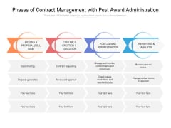 Phases Of Contract Management With Post Award Administration Ppt PowerPoint Presentation Infographics Microsoft PDF