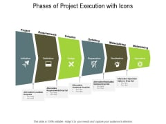 Phases Of Project Execution With Icons Ppt PowerPoint Presentation Model Example