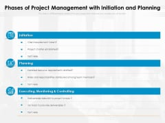 Phases Of Project Management With Initiation And Planning Ppt PowerPoint Presentation File Outline PDF