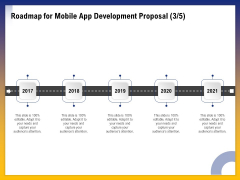 Phone Application Buildout Roadmap For Mobile App Development Proposal 2017 To 2021 Ppt Outline Graphic Tips PDF