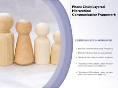 Phone Chain Layered Hierarchical Communication Framework Ppt PowerPoint Presentation File Designs PDF