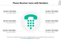 Phone Receiver Icons With Numbers Ppt PowerPoint Presentation Pictures Good PDF