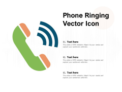 Phone Ringing Vector Icon Ppt PowerPoint Presentation Pictures Deck