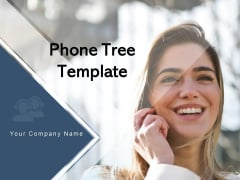 Phone Tree Template Employee Hierarchy Chart Communication Ppt PowerPoint Presentation Complete Deck