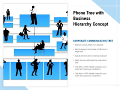 Phone Tree With Business Hierarchy Concept Ppt PowerPoint Presentation File Icons PDF