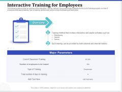 Phone Tutoring Initiative Interactive Training For Employees Ppt Portfolio Aids PDF