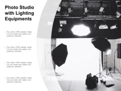 Photo Studio With Lighting Equipments Ppt Powerpoint Presentation Slides Background