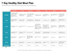Physical Trainer 7 Day Healthy Diet Meal Plan Icons PDF