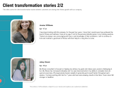 Physical Trainer Client Transformation Stories Inspiration PDF