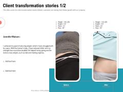 Physical Trainer Client Transformation Stories Teamwork Designs PDF