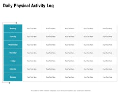 Physical Trainer Daily Physical Activity Log Download PDF