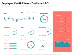 Physical Trainer Employee Health Fitness Dashboard Miles Icons PDF