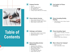 Physical Trainer Table Of Contents Microsoft PDF
