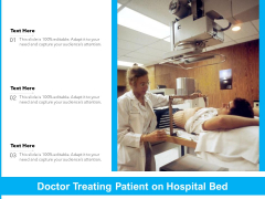 Physician Checking Patient On Hospital Bed Ppt PowerPoint Presentation Show Topics PDF
