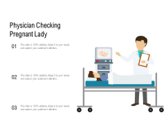 Physician Checking Pregnant Lady Ppt PowerPoint Presentation Layouts Gallery PDF