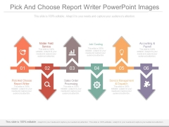 Pick And Choose Report Writer Powerpoint Images