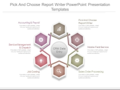 Pick And Choose Report Writer Powerpoint Presentation Templates