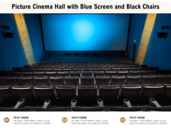 Picture Cinema Hall With Blue Screen And Black Chairs Ppt PowerPoint Presentation Portfolio Icon PDF