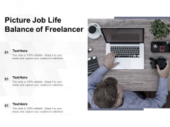 Picture Job Life Balance Of Freelancer Ppt PowerPoint Presentation Gallery Display PDF