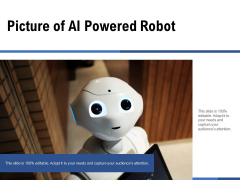 Picture Of AI Powered Robot Ppt PowerPoint Presentation File Background Image PDF