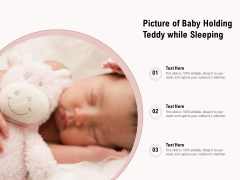 Picture Of Baby Holding Teddy While Sleeping Ppt PowerPoint Presentation Gallery Examples PDF