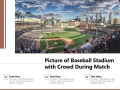 Picture Of Baseball Stadium With Crowd During Match Ppt PowerPoint Presentation Gallery Styles PDF