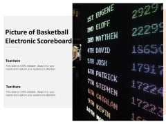 Picture Of Basketball Electronic Scoreboard Ppt PowerPoint Presentation Summary Ideas
