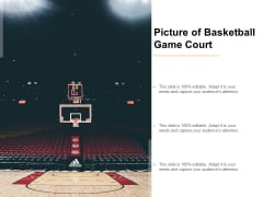 Picture Of Basketball Game Court Ppt PowerPoint Presentation Layouts Show