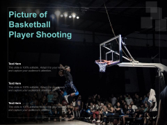 Picture Of Basketball Player Shooting Ppt PowerPoint Presentation Portfolio Shapes