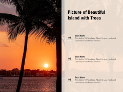 Picture Of Beautiful Island With Trees Ppt PowerPoint Presentation Infographics Designs Download PDF