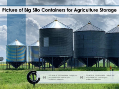 Picture Of Big Silo Containers For Agriculture Storage Ppt PowerPoint Presentation Gallery Layouts PDF