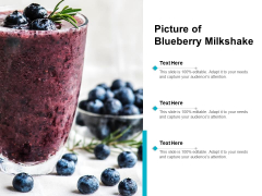 Picture Of Blueberry Milkshake Ppt Powerpoint Presentation Pictures Design Templates