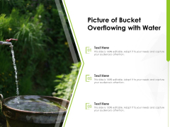 Picture Of Bucket Overflowing With Water Ppt PowerPoint Presentation Professional Microsoft PDF