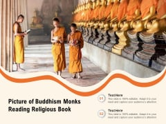 Picture Of Buddhism Monks Reading Religious Book Ppt PowerPoint Presentation Icon Ideas PDF