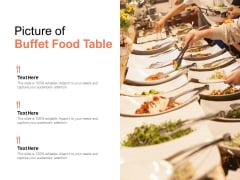 Picture Of Buffet Food Table Ppt PowerPoint Presentation Ideas Examples