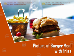 Picture Of Burger Meal With Fries Ppt PowerPoint Presentation Slides Outfit