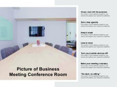 Picture Of Business Meeting Conference Room Ppt PowerPoint Presentation Slides Shapes
