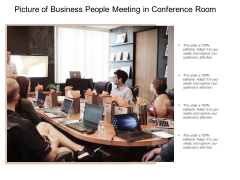 Picture Of Business People Meeting In Conference Room Ppt PowerPoint Presentation Show Example Topics