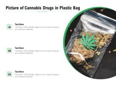 Picture Of Cannabis Drugs In Plastic Bag Ppt PowerPoint Presentation Gallery Backgrounds PDF