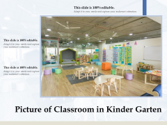 Picture Of Classroom In Kinder Garten Ppt PowerPoint Presentation File Shapes PDF