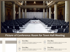 Picture Of Conference Room For Town Hall Meeting Ppt PowerPoint Presentation File Example File PDF
