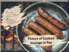 Picture Of Cooked Sausage In Pan Ppt Powerpoint Presentation Summary Show Pdf