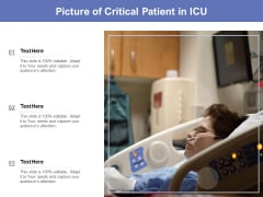 Picture Of Critical Patient In ICU Ppt PowerPoint Presentation Pictures Background Image PDF