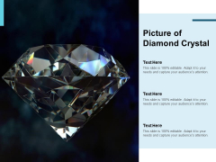 Picture Of Diamond Crystal Ppt PowerPoint Presentation Summary Backgrounds