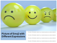 Picture Of Emoji With Different Expressions Ppt PowerPoint Presentation Show Images