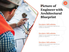 Picture Of Engineer With Architectural Blueprint Ppt PowerPoint Presentation Layouts Layout PDF